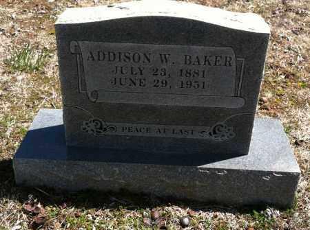 BAKER, ADDISON W - Washington County, Arkansas | ADDISON W BAKER - Arkansas Gravestone Photos