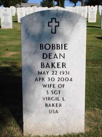 BAKER, BOBBIE DEAN - Washington County, Arkansas | BOBBIE DEAN BAKER - Arkansas Gravestone Photos