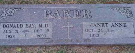 BAKER, DONALD BAY M.D. - Washington County, Arkansas   DONALD BAY M.D. BAKER - Arkansas Gravestone Photos