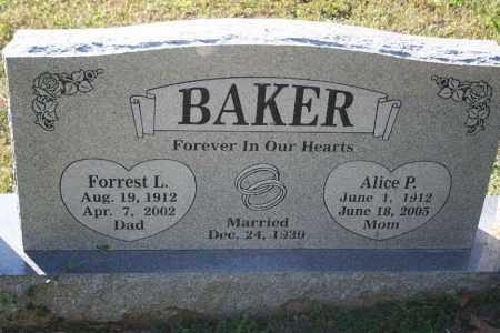 BAKER, ALICE - Washington County, Arkansas   ALICE BAKER - Arkansas Gravestone Photos