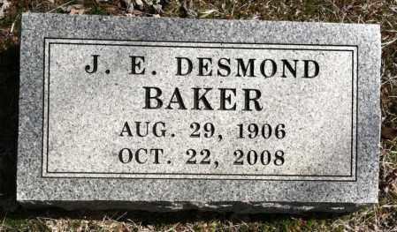 BAKER, J E DESMOND - Washington County, Arkansas | J E DESMOND BAKER - Arkansas Gravestone Photos