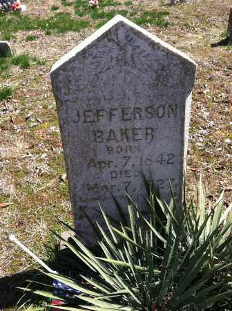BAKER, JEFFERSON - Washington County, Arkansas | JEFFERSON BAKER - Arkansas Gravestone Photos