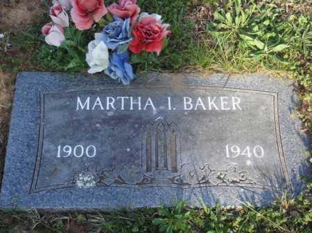 BAKER, MARTHA I. - Washington County, Arkansas   MARTHA I. BAKER - Arkansas Gravestone Photos