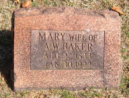 BAKER, MARY - Washington County, Arkansas   MARY BAKER - Arkansas Gravestone Photos