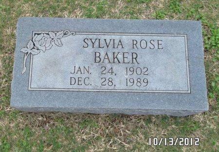 BAKER, SYLVIA ROSE - Washington County, Arkansas   SYLVIA ROSE BAKER - Arkansas Gravestone Photos