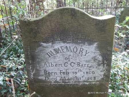 BARR, ALBERT CLINTON - Washington County, Arkansas   ALBERT CLINTON BARR - Arkansas Gravestone Photos