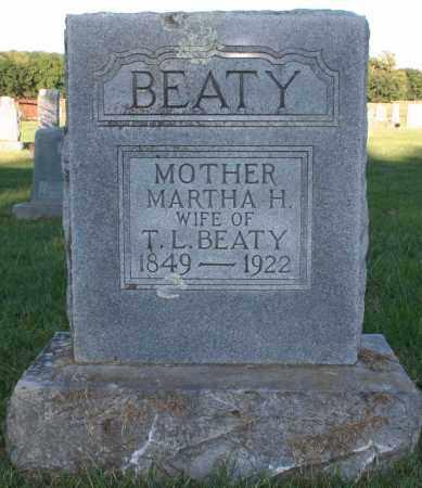 BEATY, MARTHA H. - Washington County, Arkansas   MARTHA H. BEATY - Arkansas Gravestone Photos