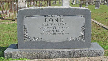 BOND, MARTHA IRENE - Washington County, Arkansas | MARTHA IRENE BOND - Arkansas Gravestone Photos