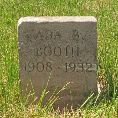 BOOTH, ADA B - Washington County, Arkansas | ADA B BOOTH - Arkansas Gravestone Photos