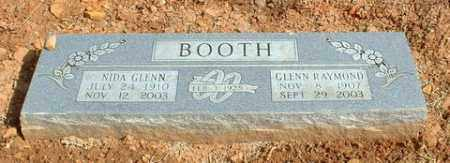 BOOTH, NIDA GLENN - Washington County, Arkansas | NIDA GLENN BOOTH - Arkansas Gravestone Photos