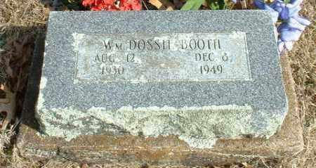 BOOTH, WILLIAM DOSSIE - Washington County, Arkansas | WILLIAM DOSSIE BOOTH - Arkansas Gravestone Photos