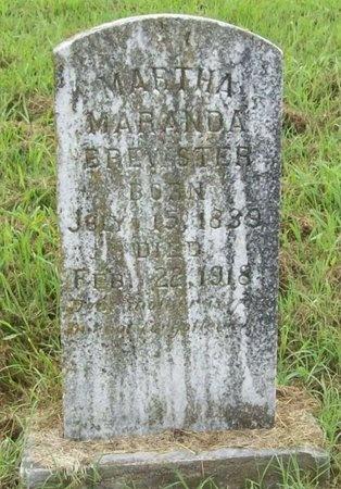 BREWSTER, MARTHA MARANDA - Washington County, Arkansas | MARTHA MARANDA BREWSTER - Arkansas Gravestone Photos