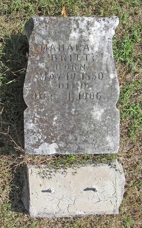 MARTIN BRITT, MAHALA A - Washington County, Arkansas | MAHALA A MARTIN BRITT - Arkansas Gravestone Photos