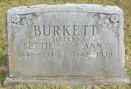 BURKETT, BETTIE - Washington County, Arkansas | BETTIE BURKETT - Arkansas Gravestone Photos