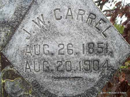 CARREL, JOHN WESLEY (CLOSEUP) - Washington County, Arkansas   JOHN WESLEY (CLOSEUP) CARREL - Arkansas Gravestone Photos