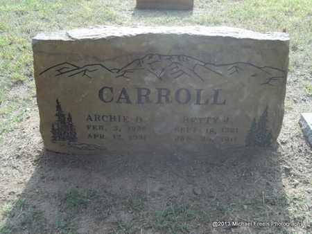 CARROLL, ARCHIE DUDLEY - Washington County, Arkansas | ARCHIE DUDLEY CARROLL - Arkansas Gravestone Photos