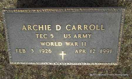 CARROLL (VETERAN WWII), ARCHIE DUDLEY - Washington County, Arkansas   ARCHIE DUDLEY CARROLL (VETERAN WWII) - Arkansas Gravestone Photos