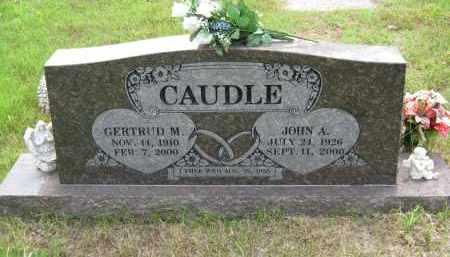 CAUDLE, GERTRUD M - Washington County, Arkansas   GERTRUD M CAUDLE - Arkansas Gravestone Photos