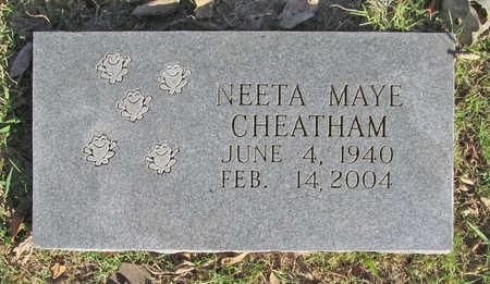 COMBS CHEATHAM, NEETA MAYE - Washington County, Arkansas | NEETA MAYE COMBS CHEATHAM - Arkansas Gravestone Photos