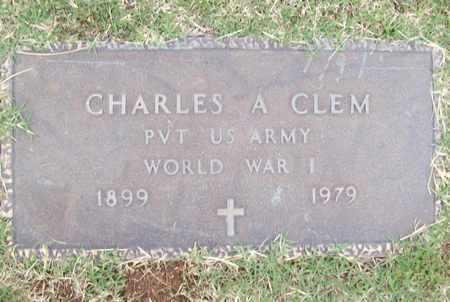 CLEM (VETERAN WWI), CHARLES A - Washington County, Arkansas   CHARLES A CLEM (VETERAN WWI) - Arkansas Gravestone Photos