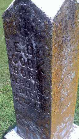 COOK, E D (CLOSEUP) - Washington County, Arkansas | E D (CLOSEUP) COOK - Arkansas Gravestone Photos