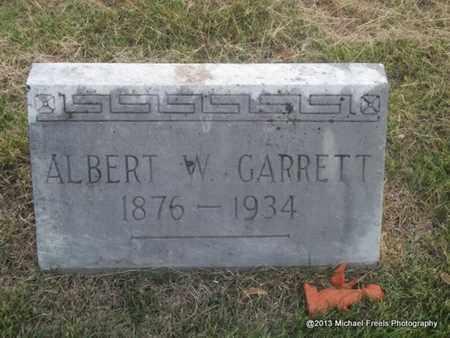 GARRETT, ALBERT W - Washington County, Arkansas | ALBERT W GARRETT - Arkansas Gravestone Photos