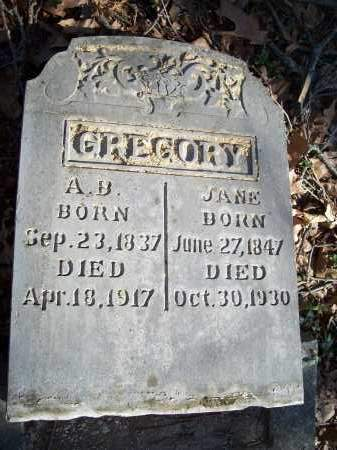 GREGORY, JANE - Washington County, Arkansas   JANE GREGORY - Arkansas Gravestone Photos