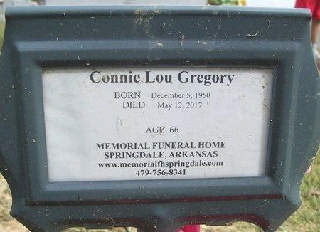 GREGORY, CONNIE LOU - Washington County, Arkansas   CONNIE LOU GREGORY - Arkansas Gravestone Photos