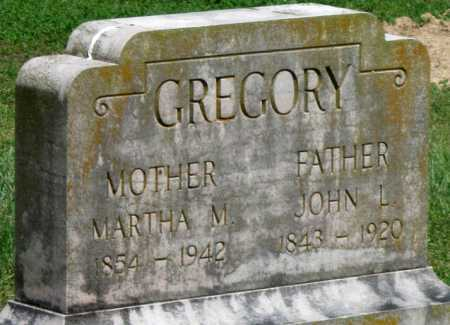 GREGORY, MARTHA M - Washington County, Arkansas | MARTHA M GREGORY - Arkansas Gravestone Photos