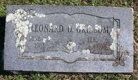 GRISCOM, LEONARD D. - Washington County, Arkansas | LEONARD D. GRISCOM - Arkansas Gravestone Photos