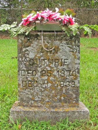 GUTHRIE, ANN - Washington County, Arkansas | ANN GUTHRIE - Arkansas Gravestone Photos