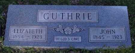 GUTHRIE, ELIZABETH - Washington County, Arkansas | ELIZABETH GUTHRIE - Arkansas Gravestone Photos
