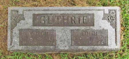 GUTHRIE, JOHN VIRGIL - Washington County, Arkansas | JOHN VIRGIL GUTHRIE - Arkansas Gravestone Photos