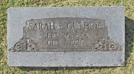 GUTHRIE, SARAH L - Washington County, Arkansas   SARAH L GUTHRIE - Arkansas Gravestone Photos