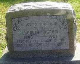INGRAM, LUCRETA - Washington County, Arkansas   LUCRETA INGRAM - Arkansas Gravestone Photos