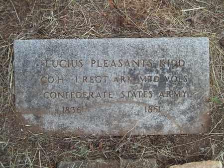 KIDD (VETERAN CSA), LUCIUS PLEASANTS - Washington County, Arkansas | LUCIUS PLEASANTS KIDD (VETERAN CSA) - Arkansas Gravestone Photos