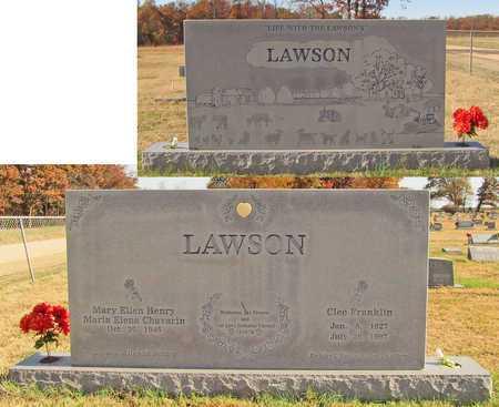 LAWSON, CLEO FRANKLIN - Washington County, Arkansas | CLEO FRANKLIN LAWSON - Arkansas Gravestone Photos