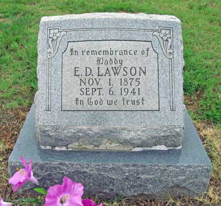 LAWSON, E D - Washington County, Arkansas | E D LAWSON - Arkansas Gravestone Photos