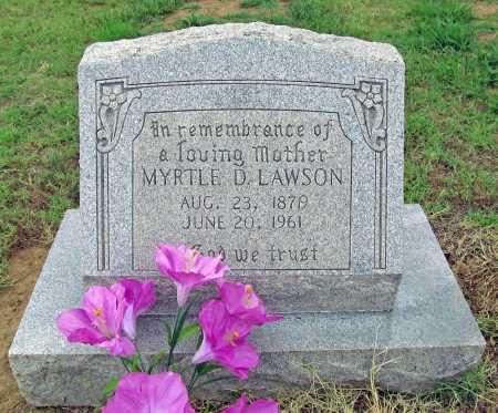 LAWSON, MYRTLE D - Washington County, Arkansas   MYRTLE D LAWSON - Arkansas Gravestone Photos