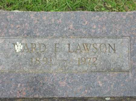 LAWSON, WARD F - Washington County, Arkansas | WARD F LAWSON - Arkansas Gravestone Photos