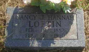 HANNAH LOFTIN, NANCY J - Washington County, Arkansas | NANCY J HANNAH LOFTIN - Arkansas Gravestone Photos