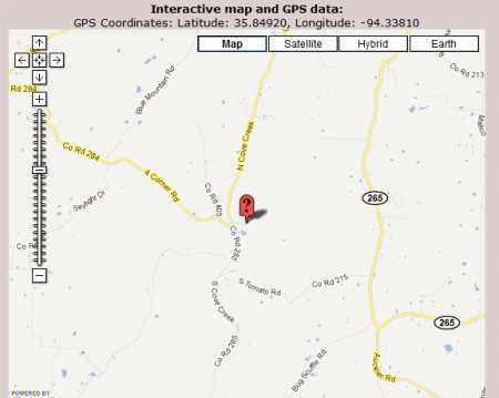 *MORROW CEMETERY MAP,  - Washington County, Arkansas |  *MORROW CEMETERY MAP - Arkansas Gravestone Photos
