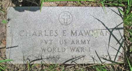 MAWMAN (VETERAN WWI), CHARLES E - Washington County, Arkansas | CHARLES E MAWMAN (VETERAN WWI) - Arkansas Gravestone Photos