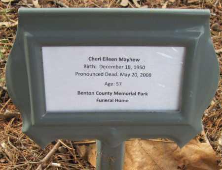 MAYHEW, CHERI EILEEN - Washington County, Arkansas   CHERI EILEEN MAYHEW - Arkansas Gravestone Photos