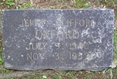 OXFORD, JERRY CLIFFORD - Washington County, Arkansas   JERRY CLIFFORD OXFORD - Arkansas Gravestone Photos