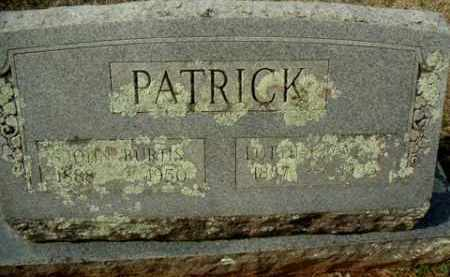 PATRICK, JOHN BURTIS - Washington County, Arkansas | JOHN BURTIS PATRICK - Arkansas Gravestone Photos