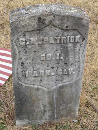 PATRICK (VETERAN UNION), GEORGE W - Washington County, Arkansas | GEORGE W PATRICK (VETERAN UNION) - Arkansas Gravestone Photos