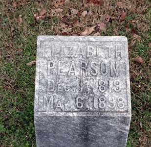 PEARSON, ELIZABETH - Washington County, Arkansas   ELIZABETH PEARSON - Arkansas Gravestone Photos