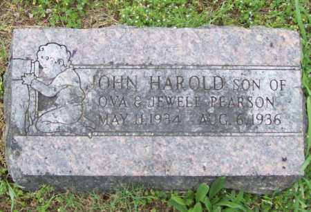 PEARSON, JOHN HAROLD - Washington County, Arkansas | JOHN HAROLD PEARSON - Arkansas Gravestone Photos