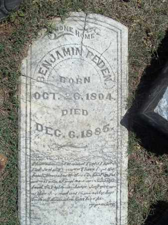 PEDEN, BENJAMIN - Washington County, Arkansas | BENJAMIN PEDEN - Arkansas Gravestone Photos